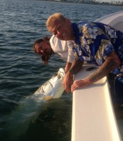 A picture of Tarpon on one of our St. Petersburg Fishing Charters