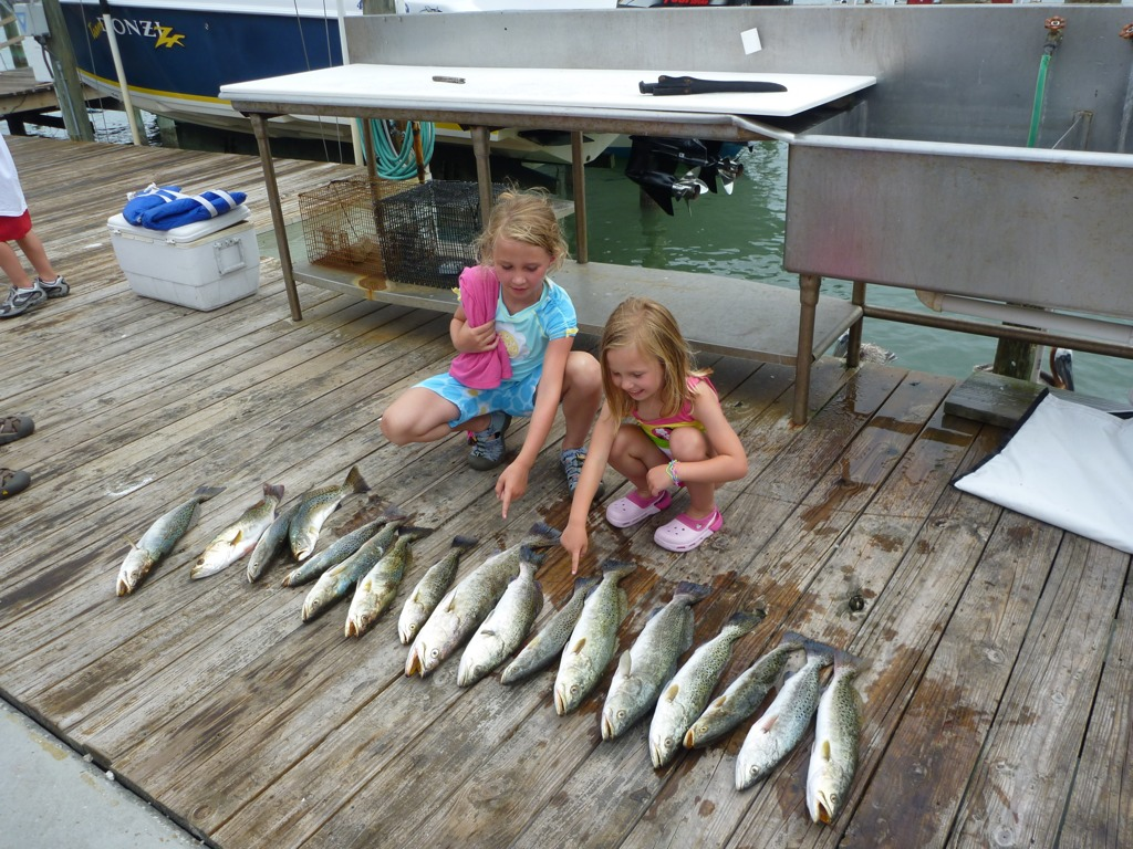 A picture of Kids Fishing on one of our St. Petersburg Fishing Charters