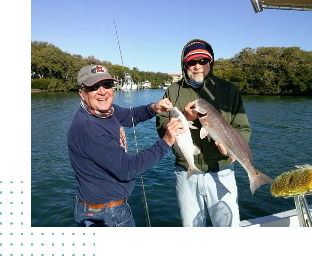 A picture of Reservation on one of our St. Petersburg Fishing Charters
