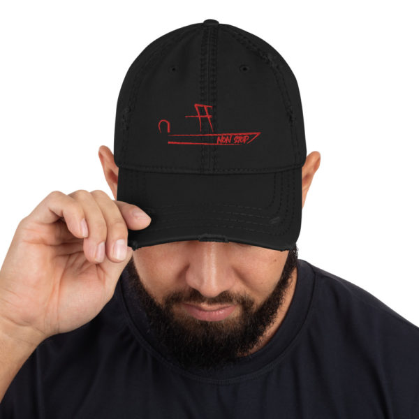 A picture of Distressed Dad Hat on one of our St. Petersburg Fishing Charters