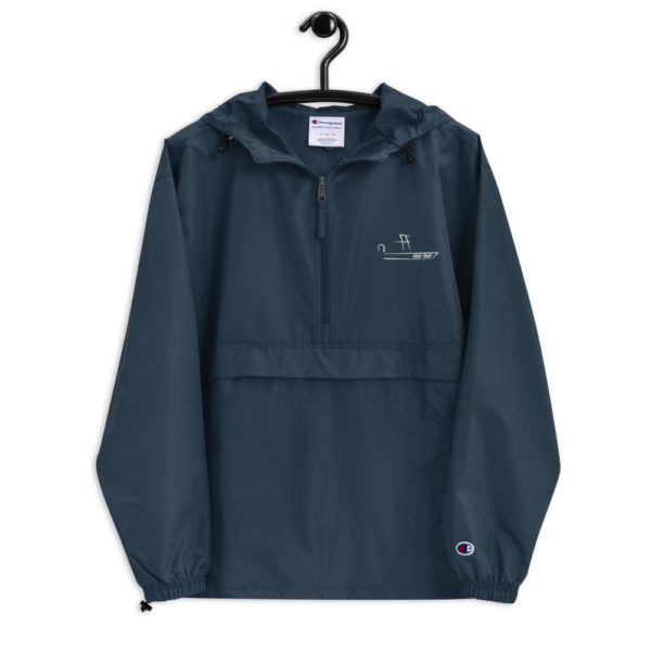 A picture of Embroidered Champion Packable Jacket on one of our St. Petersburg Fishing Charters