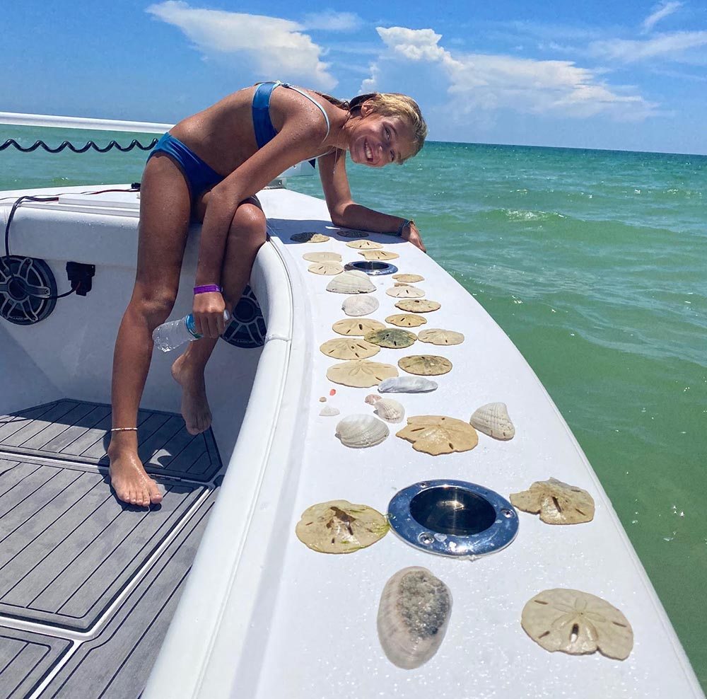 A picture of Shelling & Family Fun Trips on one of our St. Petersburg Fishing Charters