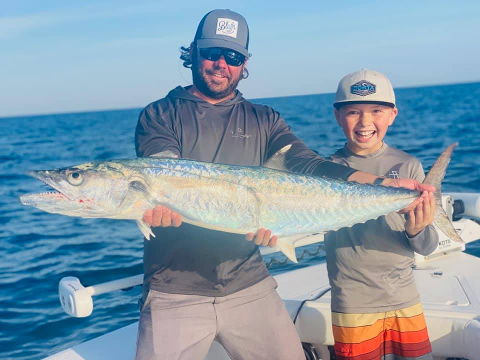 A picture of Great Weather, Great Fishing on one of our St. Petersburg Fishing Charters